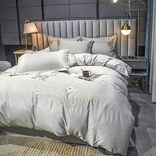 funda de edredón 220x240,Funda de seda edredón, hoja de cama satinada conjuntos de funda de almohada seda rica seda sedosa súper suave color sólido reversible sexy luna de miel resistente a la luna d