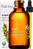 Gya Labs Organic Moroccan Argan Oil for Hair and Skin - Reduce Frizzy Hair and Dry Scalp, Boost Hair Growth - Moisturize Dry Skin - 100 Pure, Natural and Cold Pressed Carrier Oil Hair Oil - 100ml