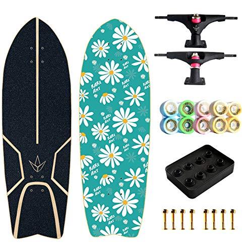 TIANDU Skateboards for Beginners,Complete Surf Skateboards 32