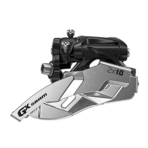 SRAM GX Bicycle Front Derailleur with 2 x 10 Low-Clamp 38/36 Dual