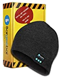 Bargeebai Unisex Beanie Hat Bluetooth Wirless Upgraded Loud Stereo Speaker Unique Awesome Cute Fall Winter Birthday Tech Gifts Under 20 Teen Boy Man Woman Girl Knit Skull Cap (Dark Gray)