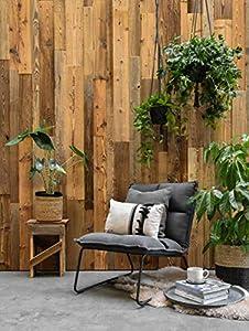 Revestimiento para la pared de madera rústica Montreal, efecto 3D, 0,8 m2