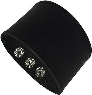 Making up Men's Black Brown White Leather Bracelet Single Layer Wristband Cuff Bangle,Length:21.9cm