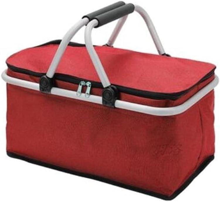 Picnic Hamper Foldable Boston Mall Insulated Basket-Sturdy Aluminum Inexpensive F
