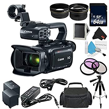 Canon XA11 Compact Professional Camcorder - Full HD with HDMI and Composite Output  PAL - Bundle with 64GB Memory Card + More