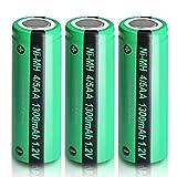 Ni-MH Recargable 1,2 V 4/5AA 1300mAh batería 3 Piezas