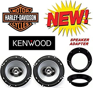 96-2013 Kenwood Speaker Package with Adapter Rings works with Harley Touring - speaker is not created by Harley