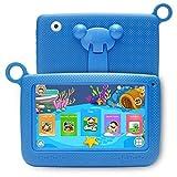 Hoonee Tablet para niños, tableta Android de 7 pulgadas, Android 4.4.1 Oreo Go, ROM de 64GB, cámaras duales de 2MP, pantalla HD IPS, Wi-Fi, BT4.0, con funda de silicona