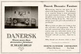 1920 Erskine-Danforth DANERSK Decorative Furniture AD Original Paper Ephemera Authentic Vintage Print Magazine Ad/Article