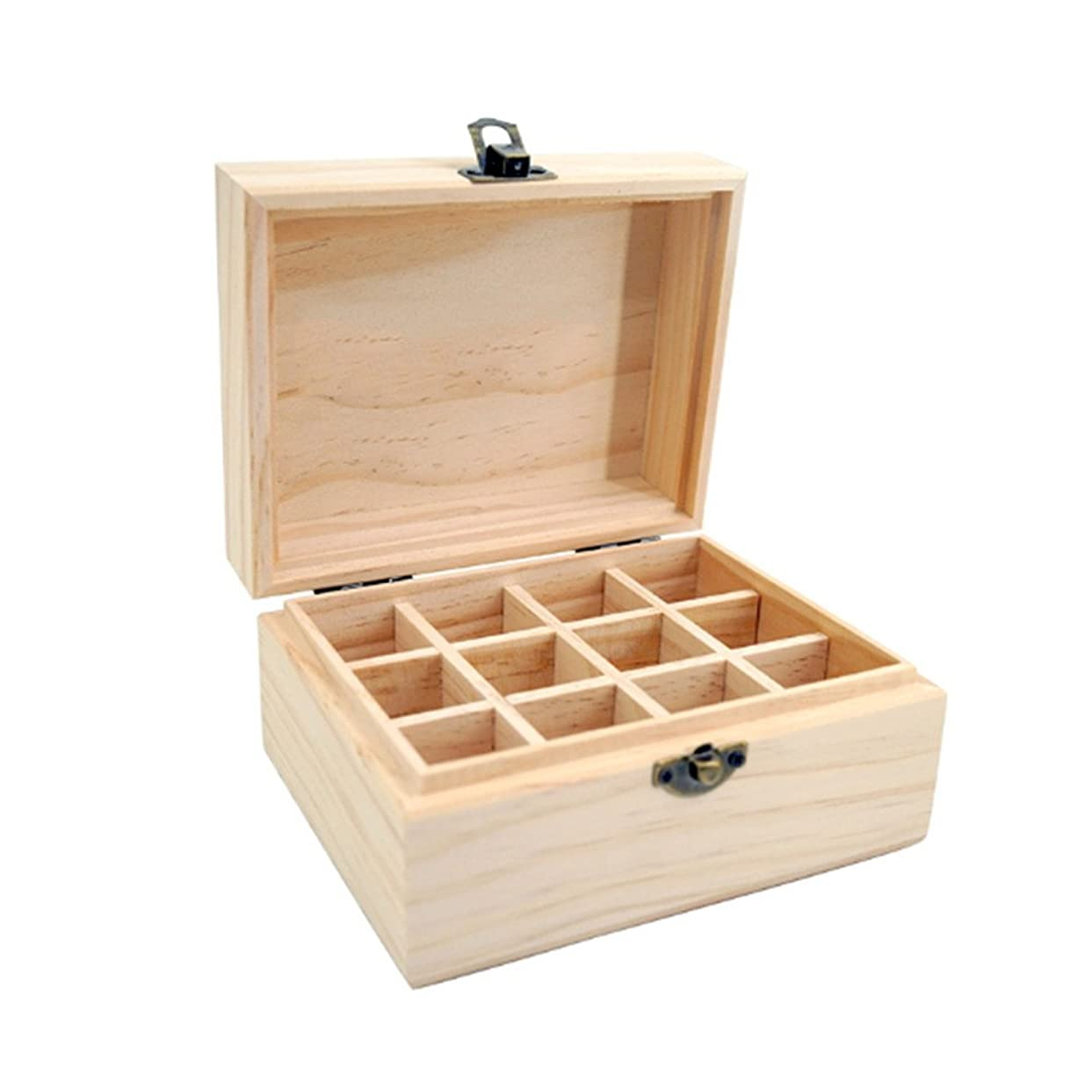 バイオリニスト極貧鼓舞するアロマポーチ エッセンシャルオイル収納ケース 木製 12本用