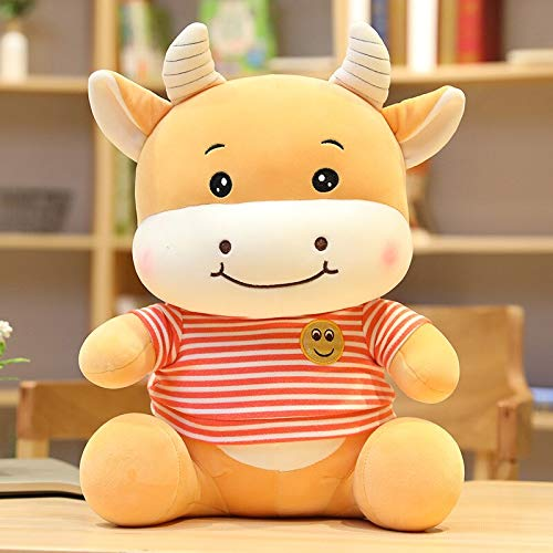 Hot New Huggable Smile Cattle Plush Toys Peluche Animal Vaca Plush Doll Cute Soft Cartoon Toys para niños Baby 35cm