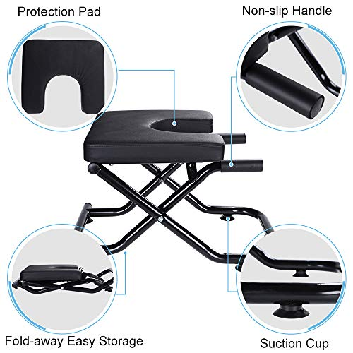 KOKSRY Yoga Headstand Bench Stand Yoga Chair for Family, Gym, Fitness Ideal Chair for Practice Head Stand, Shoulderstand, Handstand