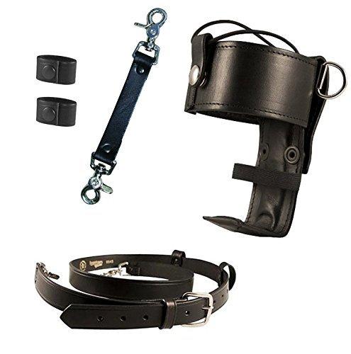 Boston Leather Bundle Three Items- Anti-Sway Strap for Radio Strap, Firefighter's Radio Strap / Belt, Universal Firefighter's Radio Holder