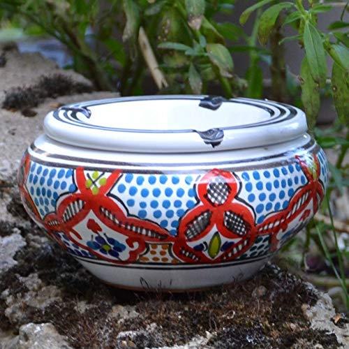 Yodeco - Cendrier oriental Marocain Rouge - Moyen modèle