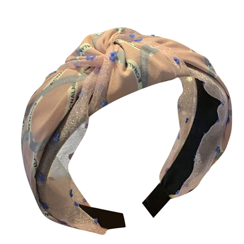 Pengy Boho Headbands for Women Vintage Criss Cross Elastic Head Wrap Hair Accessories for Girls Ladies
