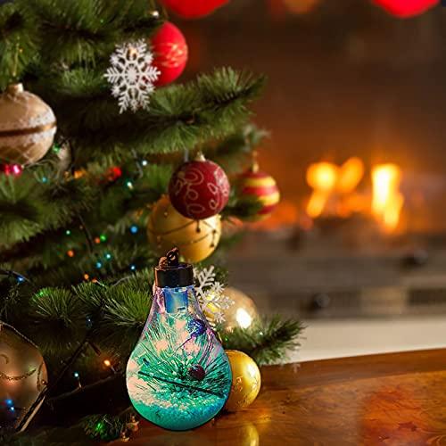 LED transparente Weihnachtskugel...