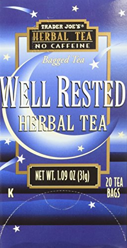 Trader Joe's Well Rested Herbal Tea No Caffeine 1.09 oz (Pack of 3)