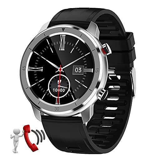QFSLR Smartwatch Reloj Inteligente con Llamada Bluetooth Monitor De Frecuencia Cardíaca Monitor De Presión Arterial Monitoreo De Oxígeno En Sangre Reloj Deportivo,Black w