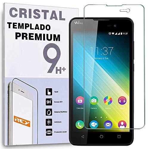 REY Protector de Pantalla para WIKO Lenny 2, Cristal Vidrio Templado Premium