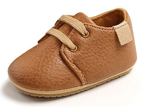 Happy Cherry Kleinkinder Schuhe Baby LauflernschuheJunge Mädchen KrabbelschuheRutschfeste Weich Schuhe 13cm EU-Größe 20 - Braun