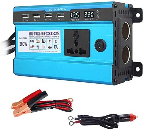 JQZ Car Inverter 200W / 180W Power Inverter 12~24V DC bis 220 V AC Start-Kühlventilator Auto-Konverter for Haushaltsgeräte Notfall Car Inverter