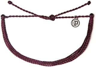 Pura Vida Jewelry Bracelets Solid Bracelet - 100% Waterproof and Handmade w/Coated Charm, Adjustable Band