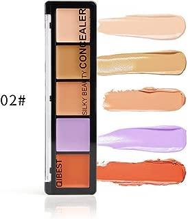 5 Color Cosmetics Cream Concealer Contour and Correct Cream Kit - Contouring Foundation/Concealer Palette - Vegan, Cruelty Free & Hypoallergenic (02)