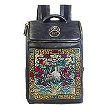 リュック メンズ バッグ PUレザー 大容量 超軽量 防水 刺繍 ファッション 高品質カバン PCビジネスバッグ(旅行 通学 通勤 出張)