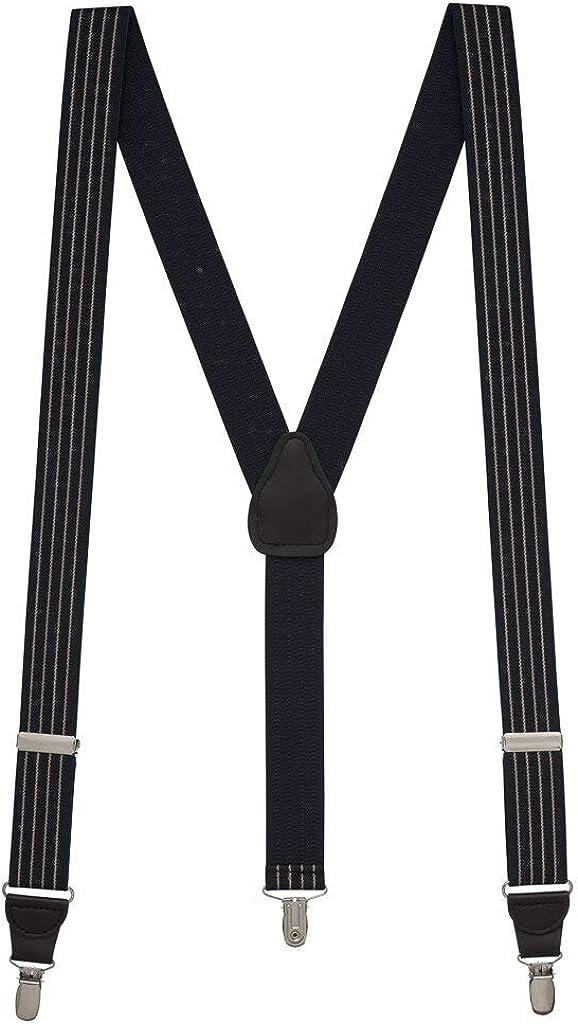 SuspenderStore Men's Pinstripe Elastic Suspenders - Clip