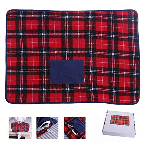 Portable USB Lap Heated Throw Blanket, Winter Warming Heating Blanket Throw Electric USB for Car Home Office Outdoor Removable Washing, Battery...