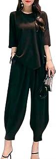 [ブブ オーハナ] 半袖 Tシャツ 上下セット ジャージ素材 ジャージ 上下 セットアップ セット リボン レディース