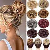 1 PCS Messy Bun Hair Extension Scrunchies Messy Bun Hair Piece for Women Curly Wavy Scrunchy Updo Bun Extensions Plum Red