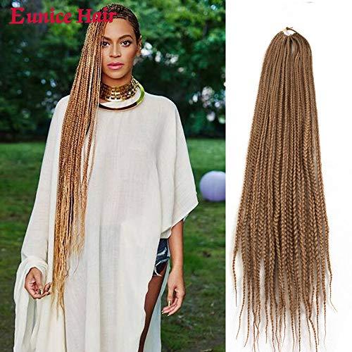 Eunice #27 Lot de 6 extensions de cheveux longs tressés en cheveux synthétiques pour crochet 120 g/PC 22 racines/lot
