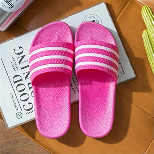 XWHKX Pantoufles à Rayures pour Femmes Sandales de Plage Pantoufles d'extérieur Pantoufles d'intérieur pour la Maison Unisexe Chaussures décontractées pour Hommes Salle de Bains Pantoufles pour Dames