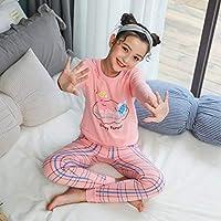 新しい10代の女の子のパジャマ秋の長袖子供服男の子の寝間着コットンパジャマセット子供用910 12 1416年
