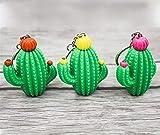takestop® Portachiavi con Suono Cactus ws1365 con Torcia Luce LED PORTACHIAVE Porta Chiavi Chiave Emoticon Pendente PIANTA