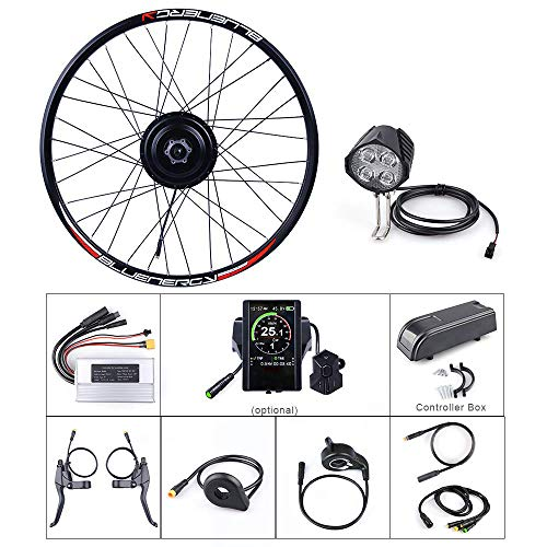 Bafang 48V 500W Front Hub Motor Brushless Gear Bicycle Electric Bike Conversion Kit with LCD Display for 20 26 27.5 700c inch Wheel Drive Engine (SW102, 20inch)