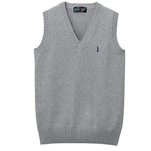 [EASTBOY] 綿ベスト〈7G〉 1206004 レディース ライトグレー×ネイビー(910) 9