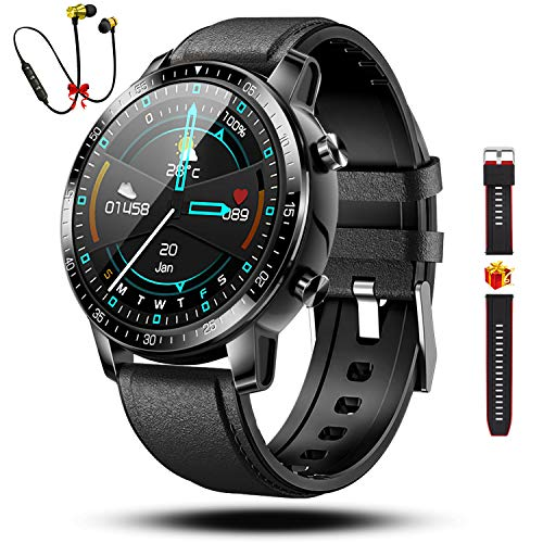 Smartwatch Orologio Fitness Uomo Donna Impermeabile Cardiofrequenzimetro Polso Contapassi Activity Tracker Smart Watch Offerta Bluetooth Sport Orologio per Android iOS(Nero)