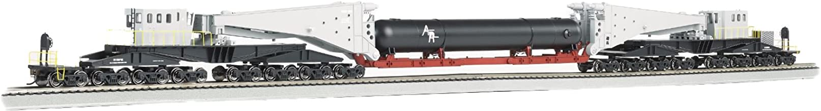 Bachmann Industries 380 Ton Schnabel Retort/Cylinder Load Ho Scale Freight Car, Gray/Black