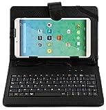 Stand de support noir avec clavier AZERTY 7 POUCES intégré pour QILIVE Tablette tactile 7 pouces Kids pour enfants + stylet...