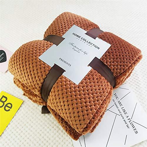 MSM Sherpa Überwurfdecke, Super Weich Bequem Fluffy Fuzzy Plüsch Decke Für Sofa Couch Bett Reversible Für Erwachsene Kinder-Schokolade 150x200cm(59x79inch)