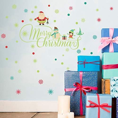 3 STÜCKE/Neue Weihnachten Englisch Leuchtende Wandfenster Aufkleber Schlafzimmer Hintergrund Ve Wandaufkleber DIY (Farbe: A, Größe: 30 * 60cm) Peng (Color : A)
