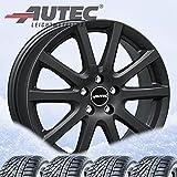 4 ruedas completas de invierno Skandic 7x17 ET 18 4x108 negro mate con 215/50 R17 95V Pirelli Winter Sottozero 3 XL FSL M+S 3PMSF
