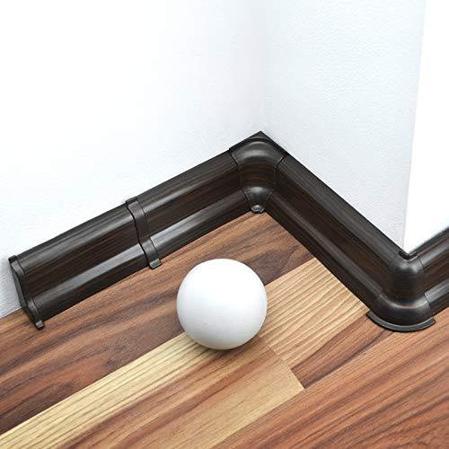 [DQ-PP] Verbinder 52mm PVC Wenge Laminatleisten Fussleisten aus Kunststoff PVC Laminat Dekore Fußleisten