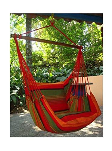 export sal hangstoel Elaidhoo kleurrijk van katoen met 2 kussenslopen en dwarsbalken