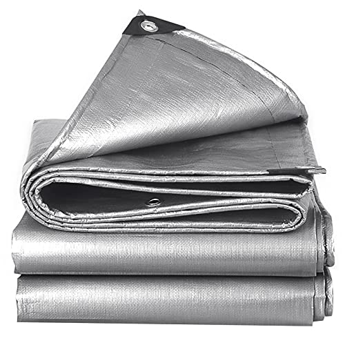 catch-L Lona PVC Tela Impermeable De Plástico Grueso para Exteriores Protector Solar Impermeable Lona para Camión Toldo Lona Resistente Al Desgaste(Size:6.5X6.5ft/2X2m)