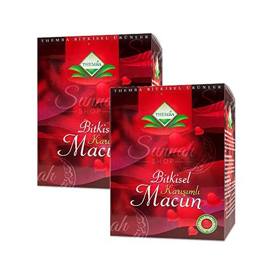 THEMRA MACUN Bitkisel Karisimli - 2er-Set - Natürliches Aphrodisiakum - Potenzmittel mit echtem Ginseng- Türkische Honig Kräuterpaste - 2x 240 gramm