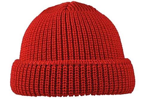 modAS Schippermütze 100% Schurwolle Nr. 1078-2 original Mütze (rot)