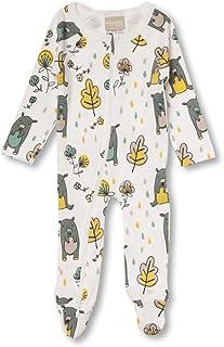 Babyushka Grey Bear Organic Long Sleeve Zip Romper, 3-6 Months (00)